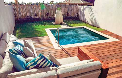 Small backyard pools: Leisure Pools Fiji Plunge