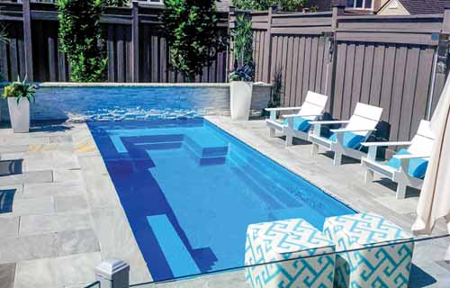 Small backyard pools: Leisure Pools Palladium Plunge
