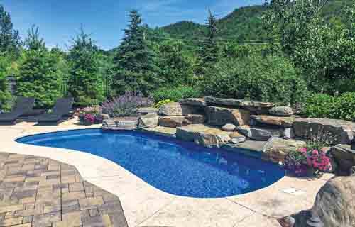 Small backyard pools: Leisure Pools Tuscany