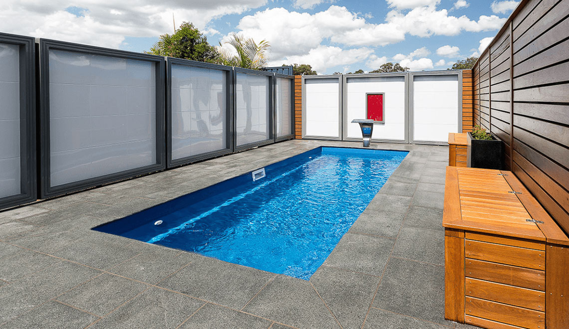 Leisure Pools Esprit flat bottom in-ground swimming pool