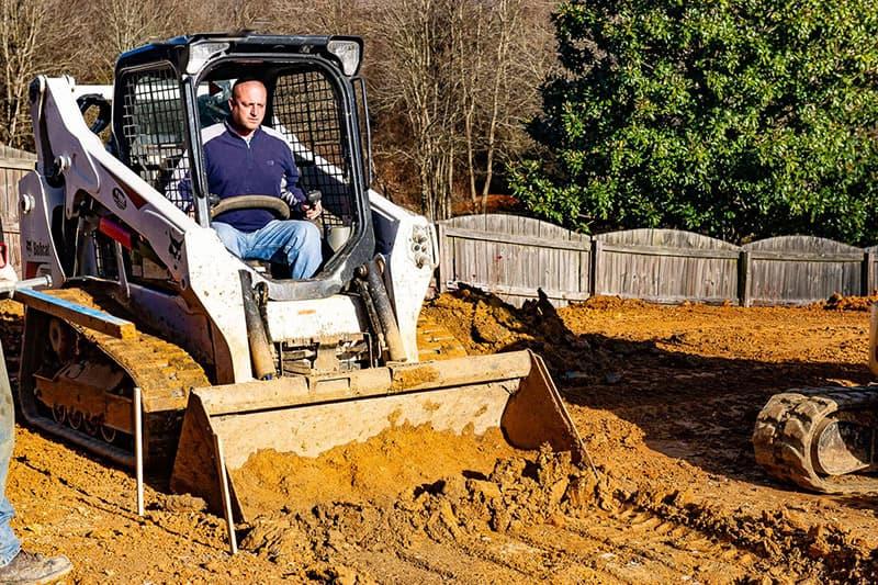 Excavation for Leisure Pools fiberglass swimming pool