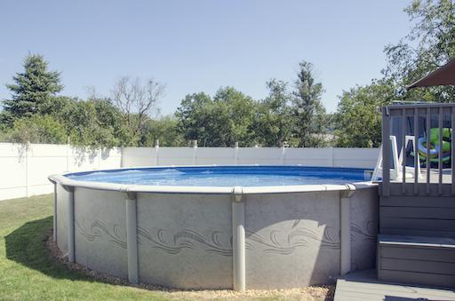 above ground pool - circle shape