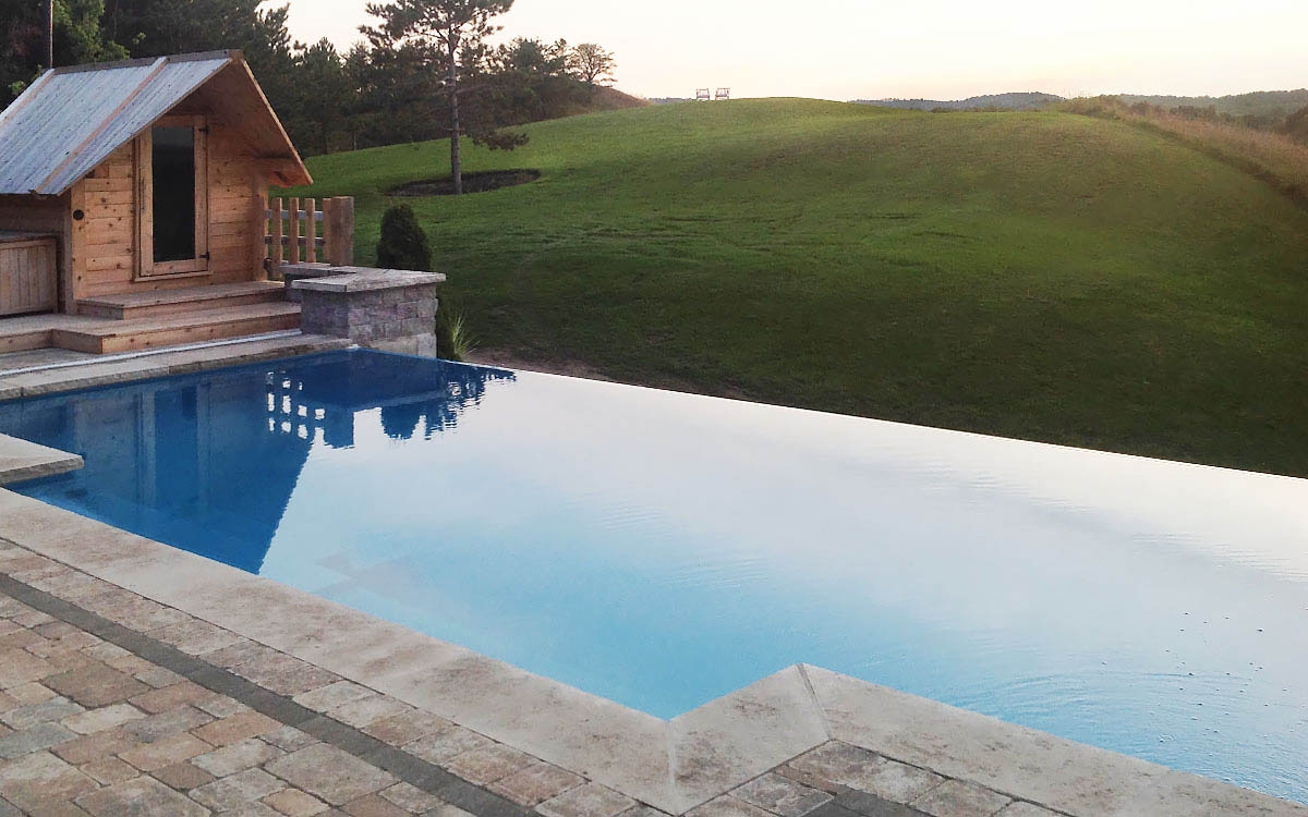 Installing A Fiberglass Pool On A Sloping Site Leisure Pools Usa
